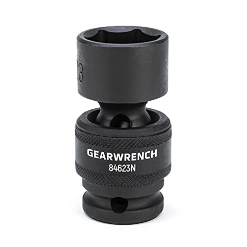 GEARWRENCH 1/2' Drive Standard Universal Impact Metric Socket 23mm, 6 Point - 84623N