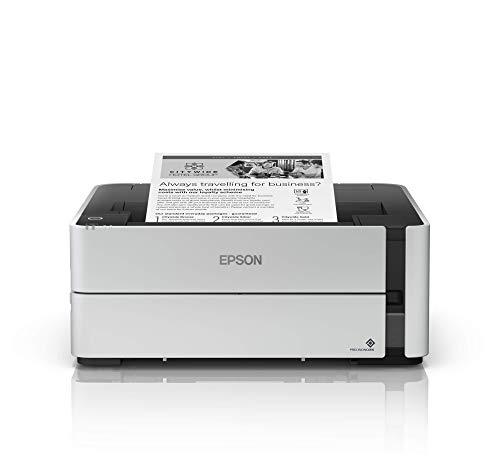Epson EcoTank ET-M1140, Stampante Bianco/Nero, Solo USB, Solo Stampante, Stampa fino a 11000 Pagine, Velocit di Stampa 20 ppm3, Vassoio da 250 Fogli, Risparmio Energetico, Flaconi Inchiostro Inclusi