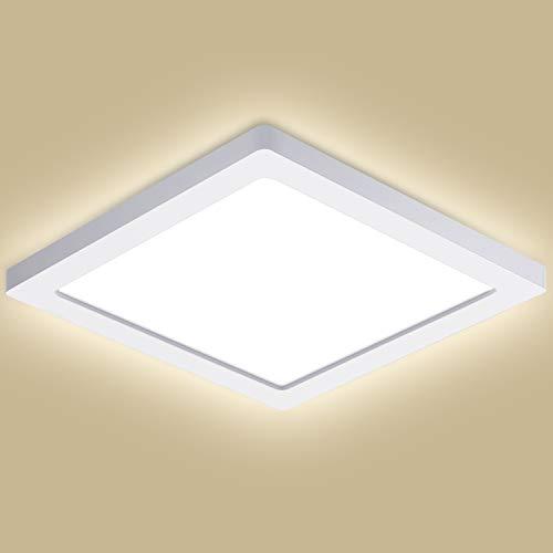 Oeegoo 24W 13mm Ultra magro LED Plafoniera Lampada da soffitto luce da incasso LED quadrata Illuminazione plafoniere 2040LM- Equivalente 150W tradizionale lampadina per Soggiorno corridoio cucina
