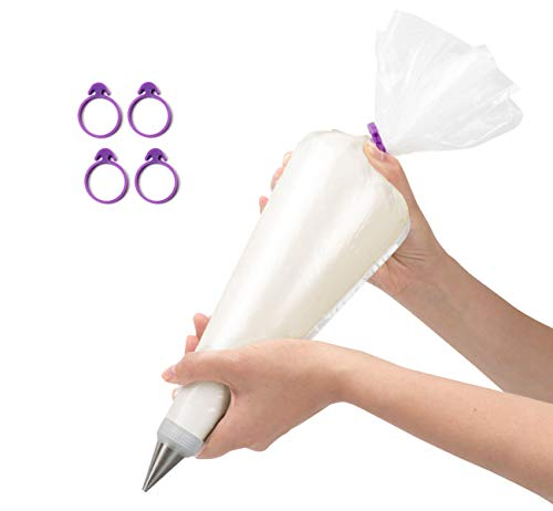 Piping Bags 18-inch Disposable with 4 Icing Bag Ties