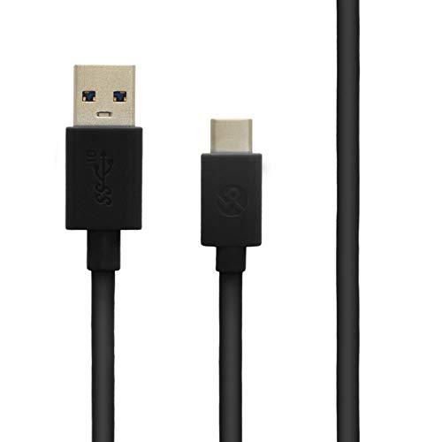 スマートフォン(汎用) USB A to Type-C(USB 3.1 Gen2) ケーブル 1.0m ブラック LP-MATCC02BK