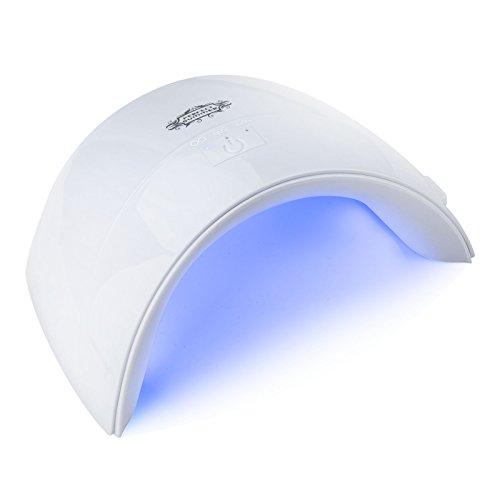 Perfect Summer 24W UV LED Nail Lamp Gel Nail Dryer Curing Light for Gel Polish Top Coat Base Coat Builder UV Gel Manicure USB White Color