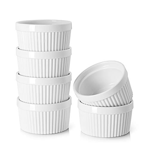8 oz PorcelainRamekins - Set of 6, White