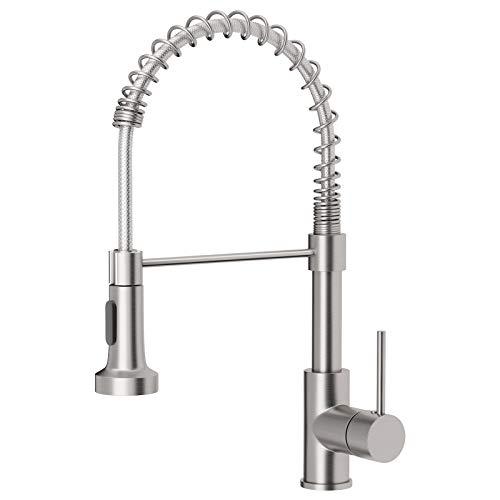 OWOFAN Kitchen Faucets Low Lead Commercial Solid Brass Single...