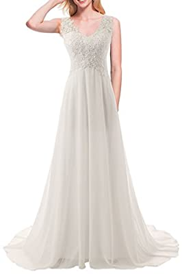 Tips: There are 5cm you can modify when dress is small for you. JAEDEN measurements for detailed sizing information on left. Available in full size range (Size 2- Size 28) and in custom sizing Lace Appliques Wedding Dress Chiffon Bridal Gown Material...