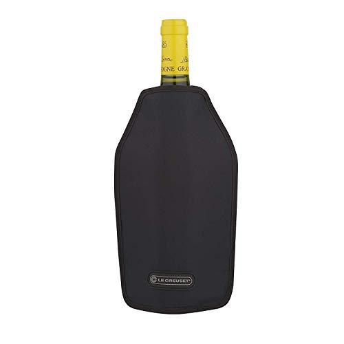 LE CREUSET WA-126 Borsa Termica per Bottiglie di Vino o di Champagne, Tessuto Idrorepellente, Nero