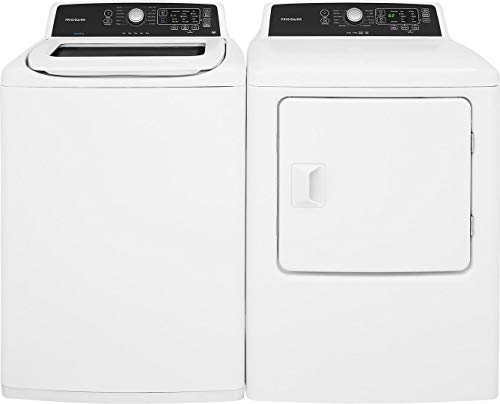 White Top Load Laundry Pair with FFTW4120SW 27 Washer and FFRE4120SW 27 Electric Dryer