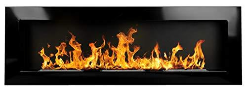 Bio Ethanol Fire BioFire Fireplace Modern 1200 x 400 high gloss black