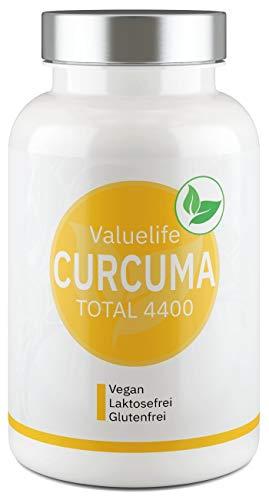Bio Curcuma Kapseln I hochdosiert je Kapsel 720mg Kurkuma & Curcumin + Bio Schwarzer Pfeffer für maximale Bioverfügbarkeit - 180 Kapseln für 60 Tage I vegan I ohne Zusatzstoffe von VALUELIFE