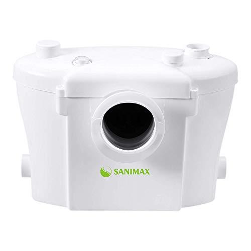 Sanimax SANI400 Broyeur Sanitaire, Pompe Automatique pour Eliminer les Eaux Usées, Silencieuse avec filtre à charbon 400W