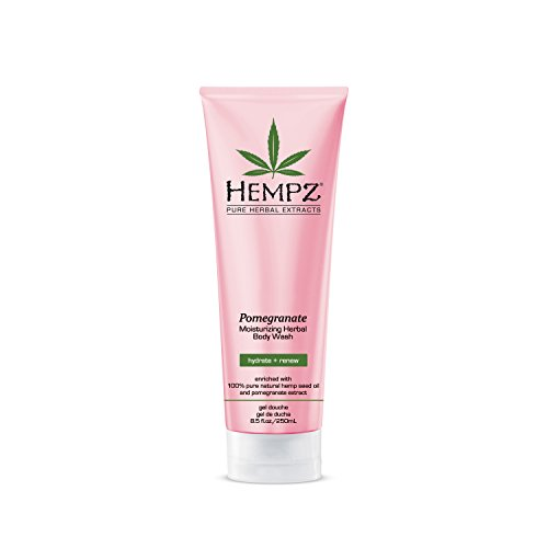 Hempz Herbal Body Wash, Pearl Pink, Pomegranate, 8.5 Fluid Ounce