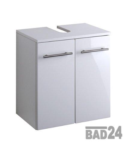 Waschbeckenunterschrank 50, Talsi, Hochglanz weiß/weiß