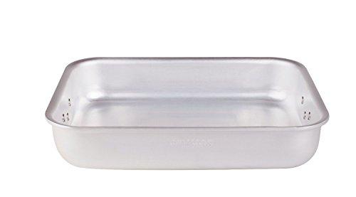 Pentole Agnelli ALMR115040 Rostiera Rettangolare Radiante, Alluminio, Argento, 40 x 28 x 8 cm