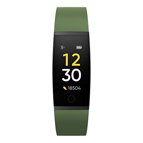 Realme Band (Green) - Full Colour Screen with Touchkey, Real-time Heart Rate Monitor, in-Built USB Charging, IP68 Water Resistant 4