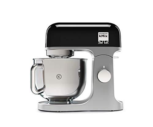 Kenwood KMX750BK Impastatrice Planetaria Kitchen Machine kMix, Robot da Cucina Mixer, 1000 W, 5 Litri, Acciaio, Plastica, Nero