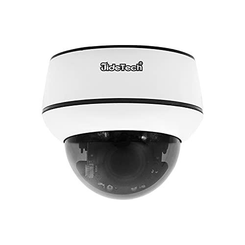 JideTech Telecamera PTZ POE Interno/Esterno , 5MP Autotracking Videocamera di Sorveglianza, Supporta l'Audio, Visione Notturna IR, IP66 Impermeabile e Slot per Scheda SD