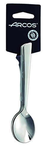Arcos Serie Toscana, Juego de Cucharas para Café, 6 cucharas, Monoblock de una pieza en Acero Inoxidable 18y10 y 140 mm, Color Plata