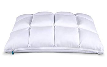 Leesa Luxury Hybrid Reversible Cooling Foam/Quilted Pillow for Sleeping, Standard, White