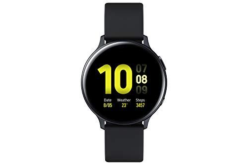 Samsung SM-R820 Galaxy Watch Active2, Fitnesstracker aus Aluminium, großes Display, ausdauernder Akku, wassergeschützt, 44 mm, Bluetooth, Schwarz