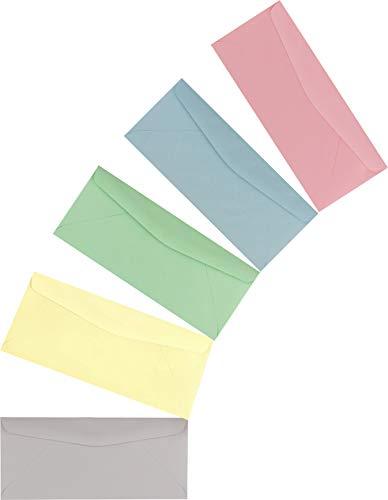 50 Business Envelopes, Standard Flap (Multi Color Pack, 9.5
