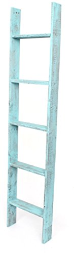 8. BarnwoodUSA Rustic Decorative Bookcase Ladder
