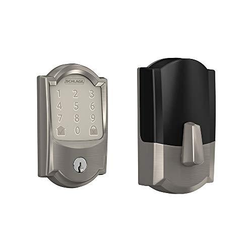 Schlage BE489WB CAM 619 Encode Deadbolt Smart Lock | WiFi Touchscreen Keypad, Satin Nickel