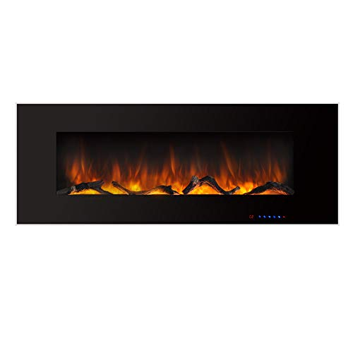 Valuxhome Electric Fireplace, 50 Inches Wall Mounted Fireplace with...