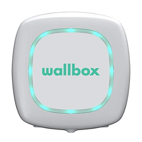 Wallbox Pulsar Cargador para Coches eléctricos. Tipo 1. Potencia máxima 7,4 kW. (Blanco, Cable 5 m)