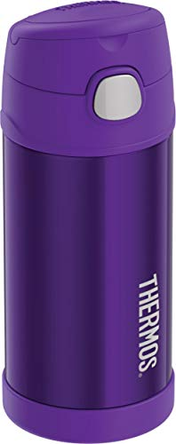Thermos Violet F4016VI6 12 Ounce Stainless Steel FUNtainer Bottle