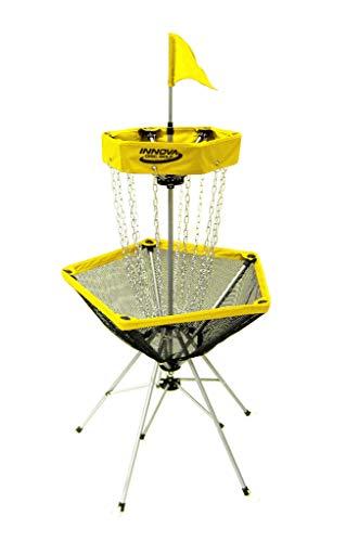 Innova Discatcher Traveler Disc Golf Basket - Yellow