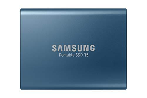 Samsung T5 250GB - Disco Estado sólido SSD Externo (250GB, USB), Color Azul