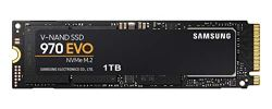 Samsung 970 EVO SSD 1TB - M.2 NVMe Interface Internal Solid State Drive with V-NAND Technology (MZ-V7E1T0BW), Black/Red
