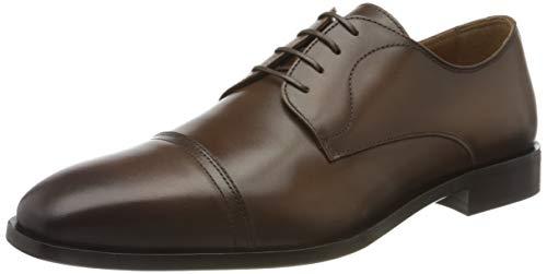 Boss Lisbon_derb_buct, Zapatos de Cordones Derby Hombre, Marrón (Medium Brown 217), 41 EU