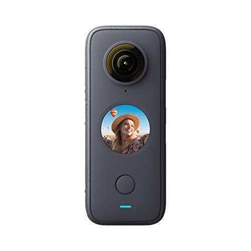 Insta360 ONE X2-5.7K Action Camera 360 con stabilizzazione impermeabile IPX8, touch screen, editing automatico video, controllo vocale