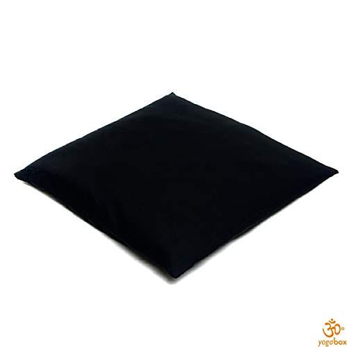 Yogabox Meditationsmatte Zabuton mit Vulka-Kokos schwarz 80 x 80 cm