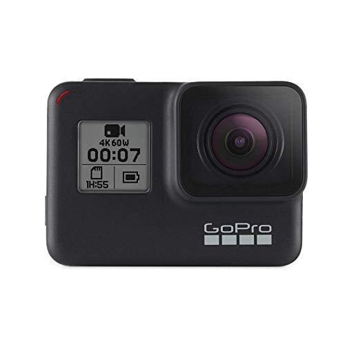 GoPro Hero7 - Action Camera 4K con Hypersmooth, Stabilizzazione video e Live streaming, Controllo vocale, impermeabile fino a 10 m - Nero