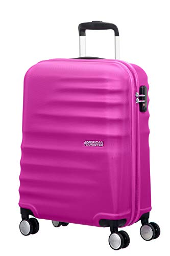 American Tourister Wavebreaker Bagaglio a Mano, Spinner S (55 cm - 36 L), Rosa (Hot Lips Pink)