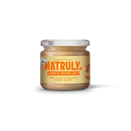 NATRULY Crema de Anacardos BIO, Crema de Anacardo Orgánica, 100% Anacardo Sin Azúcar, Sin Gluten-300 g