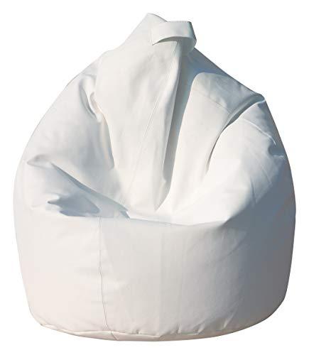 13Casa Nylon A10 Poltrona Sacco, Nylon, Bianco, 80x80x120 cm