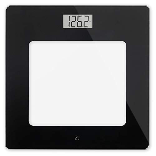 GreaterGoods Bathroom Scale, Digital Body Weight Scale, Glass Top Scale, Pounds and Kilograms