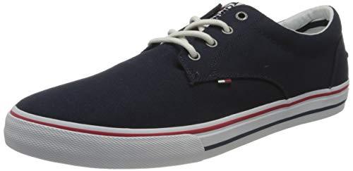 Tommy Jeans Textile Sneaker, Zapatillas Hombre, Gris (Ink 006), 42 EU