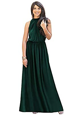 Plus sized maxi dresses for women; plus size gowns; slimming Emerald Green gowns; stretchy flattering womans clothes; dressy ladies clothing; big size dresses; full figure garments; comfortable comfy apparel; curvy maxi dress without sleeves Casual o...