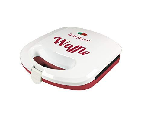 Beper Linea H Waffle Maker, Acciaio, Rosso