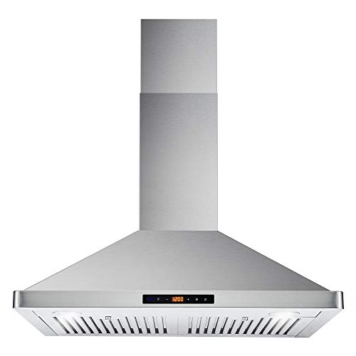 Cosmo 63175S 30 in. Wall Mount Range Hood with Ductless Convertible...