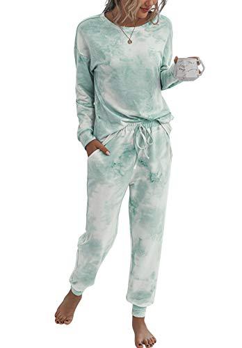 PRETTYGARDEN Women's Tie Dye Two Piece Pajamas...