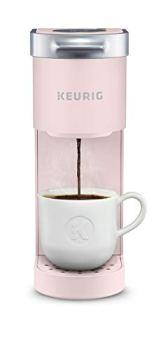 Keurig K-Mini Maker Single Serve K-Cup Pod Coffee Brewer, 6 to 12 Oz. Brew Sizes, Dusty Rose