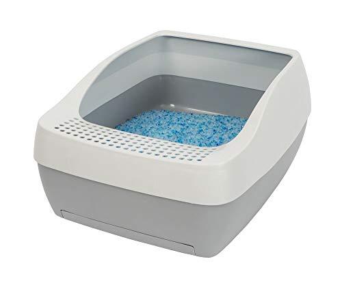 PetSafe Sistema Arena de Cristal Deluxe Creadores autolimpieza ScoopFree-Arenero Larga duración para Gatos-Reduce los olores y Mantiene los Suelos limpios