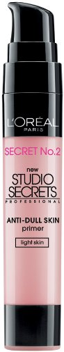 L'Oreal Paris Studio Secrets Professional Color Correcting Anti-Dull Skin Primer, Light Skin, 0.68-Fluid Ounce