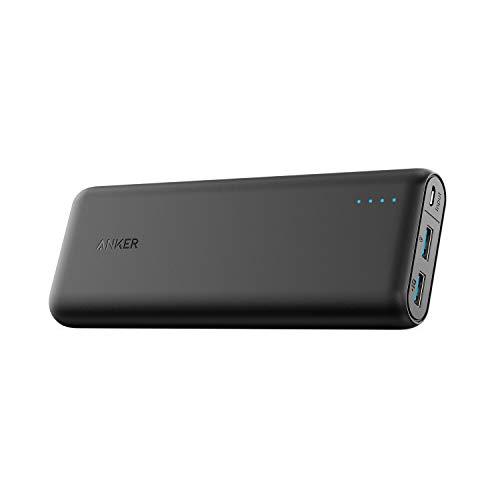 Anker PowerCore Speed 20000 Cargador Móvil Portátil rápido, Batería Externa Power Bank Qualcomm Quick Charge 3.0, Compatible con Quick Charge 1 y 2, con PowerIQ, para Samsung, iPhone, iPad y más