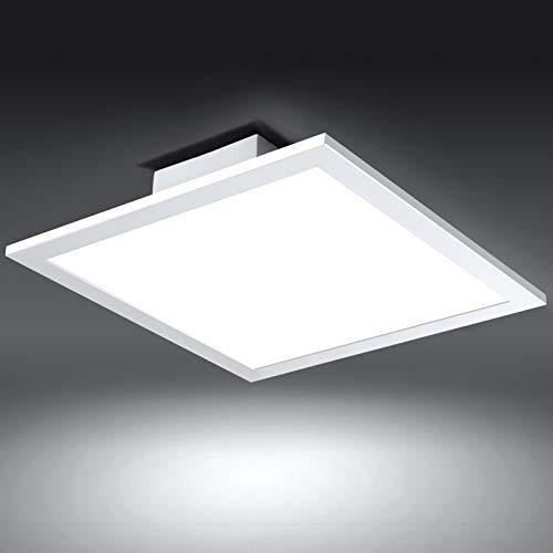 Albrillo Lampada LED da Soffitto - Pannnello Luminoso 30x30cm Luce Bianca Naturale 4000K,18W, Plafoniera LED per Soggiorno, Camera da letto, Balcone, Cucina, Cornice bianca